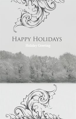Happyholidays18 Greeting Card (55x85)